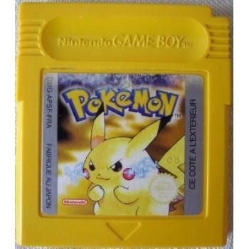 Pokemon jaune (cart. seule, pile à changer)