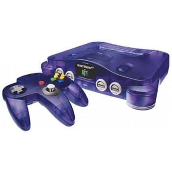 CONSOLE NINTENDO 64 Clear Purple Pal (sans boite)