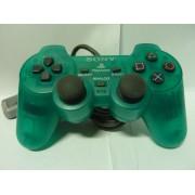 PAD Playstation Clear Green Dual Shock (très bon état)