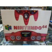 NINTENDO 64 Clear Red Pal complète