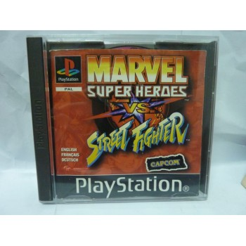 MARVEL SUPER HEROES Vs STREET FIGHTER (cd rayé, sans insert)