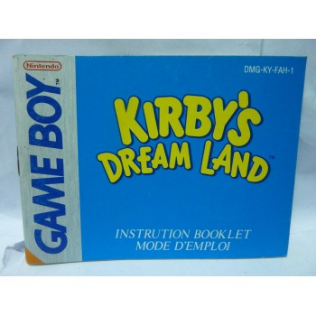 NOTICE DE KIRBY Fah Game Boy